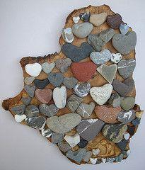 heart rock sculptures