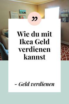 How to make money with Ikea - sell Ikea furniture Money From Home, Make Money Online, How To Make Money, Social Media Digital Marketing, Online Marketing, Get Instagram Followers, Neuer Job, Budget Planer, Home Jobs