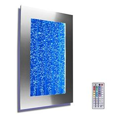 Wall Mount Hanging Bubble Wall Aquarium LED Lighting Indoor Panel Water Fall Fountain Water Feature ** Find out more about the great product at the image link. (This is an affiliate link and I receive a commission for the sales) Tabletop Water Fountain, Indoor Water Fountains, Indoor Fountain, Wall Fountains, Fountain Ideas, Fountain Design, Silver Wall Art, Silver Walls, Feng Shui