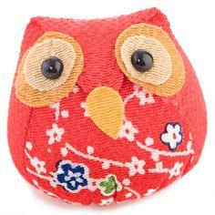 Maneki Neko soft toy lucky owl Japan