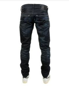 New Designer Mens G Star 3301 Low Tapered Jeans Dark Aged Denim BNWT 3c262e7e64af3
