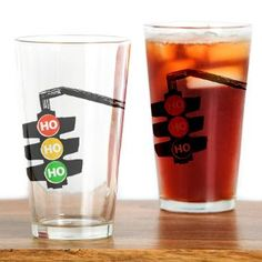 Ho Ho Ho Traffic Lights Drinking Glass