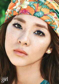 Sandara Park by Yoo Young Gyu for Voguegirl Korea July 2015 Sandara 2ne1, Sandara Park, K Pop, Korean Girl, Asian Girl, 2ne1 Dara, Hot Pink, Girl Korea, Girls Magazine