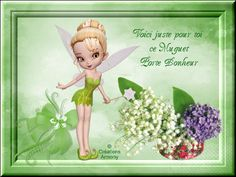 1er Mai Fête du Muguet 2 - Créations Armony Tinkerbell, Attitude, Disney Characters, Fictional Characters, Creations, Fairy, Passion, Cartoon, My Favorite Things