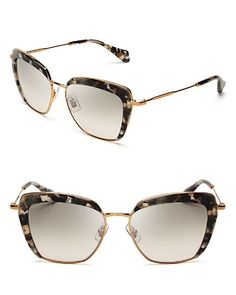 a52fca8f64ad Miu Miu Frame Evolution Oversized Cat Eye Sunglasses Jewelry   Accessories  - Bloomingdale s