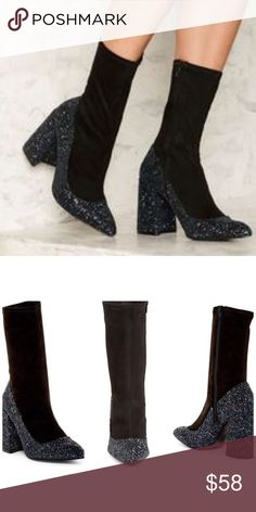 Shelly's London•Ely Glitter Sock Bootie Super cute whimsical boot from Shelly's of London! Sold at Free People & Nordstrom. New in box! Sparkly & precious. Size 37. Free People Shoes Ankle Boots & Booties