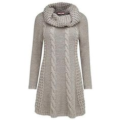 Chunky Cable Jumper by Joe Browns ($6,745) ❤ liked on Polyvore featuring tops, sweaters, cowlneck sweater, raglan top, cable knit cowl neck sweater, brown tops and acrylic sweater