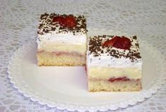 Luxusný jahodový rez - recept postup 1 Cake Recipes, Dessert Recipes, Desserts, Nutella, Tiramisu, Ale, Cheesecake, Strawberry, Food And Drink