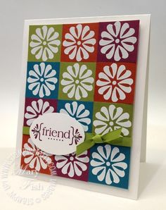 Stampin up retired retiring stamps square punch quilt card idea mojo monday catalog
