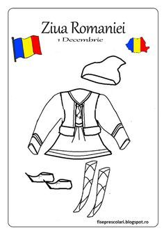 Here's Romania for kids by coloring! You will find all sorts of coloring pages suitable for kindergarten and elementary school kids. Romania People, 1 Decembrie, Kindergarten, Early Education, Coloring Pages For Kids, Elementary Schools, Cool Kids, Activities For Kids, Preschool