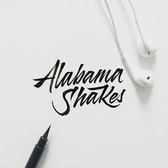 Can't stop listening to @alabama_shakes !  Hit #replay  .  .  .  .  .  .  .  .  .  .    #lettering #letteringco #thedesigntip #slowroastedco #typegang #goodtype #dailytype #typematters #betype #typeverything #typematters #typetopia #todaystype #typespire #typism #typedaily #50words #typespot @typeyeah #DifferentType #brushlettering #brushcalligraphy #pentel #blackink #rockband #earpods #music #letteringlove #letteringberlin #type