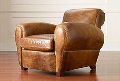 Here are some of the coolest brown leather chairs around. Check out The Milk Crate for brown leather inspiration! Small Leather Chairs, Brown Leather Armchair, Leather Club Chairs, Leather Sofa, My Living Room, Living Room Chairs, Leather Furniture, Home Furniture, Furniture Design