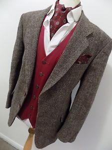 HARRIS-TWEED-mens-AVANT-GARDE-BROWN-HERRINGBONE-SPORTS-JACKET eBay search