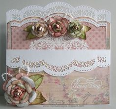 JustRite Papercraft May Release - New Amazing Paper Grace Stamps - card created by Marisa Job