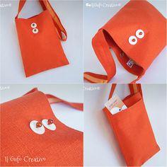 Orange mini shoulder bag - Il Gufo Creativo