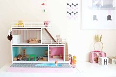 More inspiration for ikea dollhouse DIY home decor for dolls and miniatures.
