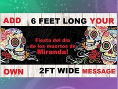 Fiesta Banner Sugar Skull Sugar Skull Banner Sugar Skull