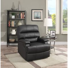 Lifestyle Solutions Morgan Leather Recliner - RR-RORWP2001