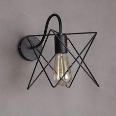 Vintage Loft Fer Cage Mur Lampe Industrielle Murale Salle De Bains