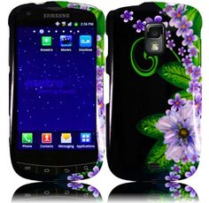 Buy For Samsung Galaxy S Lightray 4G R940 Hard Design Cover Case Green Flower NEW for 3.99 USD | Reusell