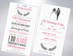 Destination Wedding Programs by TheDesignBrewery on Etsy