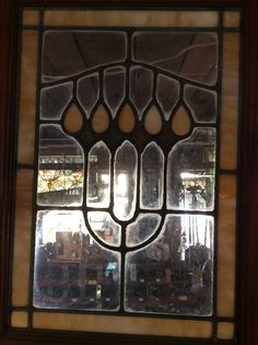 Antique stained glass cabinet door 3 available