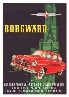 1955 Borgward - German Car Ad.