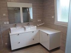 Création Meuble Salle De Bain Sur Mesure En Panneaux EGGER Coloris - Meuble salle de bain sur mesure