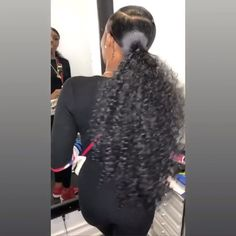 The best Prom hair styles. The best Prom hair styles. Curly Ponytail Weave, Slicked Back Ponytail, Slick Ponytail, Weave Ponytail Hairstyles, Prom Hairstyles For Long Hair, Ponytail Styles, My Hairstyle, Curly Hair Styles, Natural Hair Styles