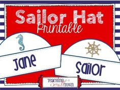 **{You must have Microsoft Powerpoint or Keynote for Mac to open and edit the files.}**This sailor hat decor set is sure to make a delightful display in your classroom! You can also print, cut the hats out, and attach construction paper or a sentence strip to make a cute hat for your students to wear.