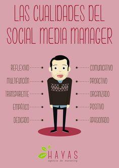 Infografía - Las cualidades del social media manager.