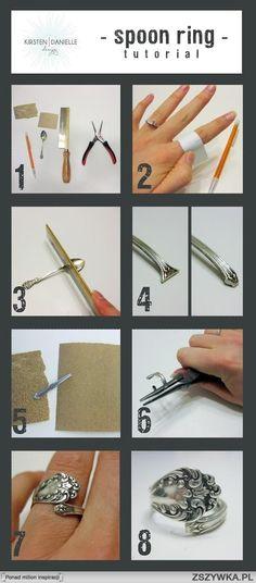 Pierścionek DIY z łyżeczki