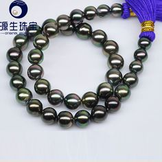 Aliexpress.com : Buy Natural Cultured Tahiti Black Pearl Beads pearl  9.0  11.1mm Mixed Color Jewellery Sets Necklace Bracelet and Earrings 14C8N 2  from Reliable earring and necklace stand suppliers on pearls by yuansheng