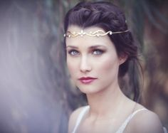 The Trible Wreath Bridal Hair Accessories, Gold Fantasy Wreath, Lord Of The Rings Jewelry, Burning Man, Fairy Crown, Forehead band