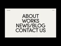 Chez Studio Menu Hover Animation by Zhenya Rynzhuk for Sochnik on Dribbble Theme Design, App Design, Design Trends, Minimal Web Design, Website Design Inspiration, Web Layout, Layout Design, Typography Design, Branding Design