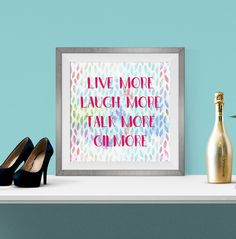Printable Wall Art - Gilmore Girls - Live More Laugh More - Instant Download 8x8 | 10x10 | 12x12 by Lindelightful on Etsy