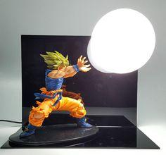 Dragon Ball Kamehameha Attack Super Saiyan Son Goku DIY Display Lamp. #DragonBall #Kamehameha #Attack #SuperSaiyan #SonGoku #DIY #Display #Lamp
