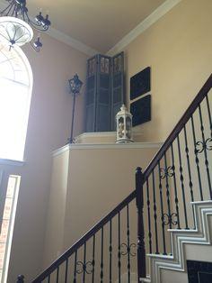 high foyer ledge decorating ideas - Google Search