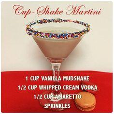 Cup-Shake Martini- Vodka Mudshake Recipe Cocktails, Drinks, Martini, Vodka, Vanilla, Uni, Tableware, Shake, Glass
