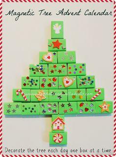 magnetic advent calendar - Christmas Countdown Ideas