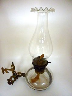 Antique Victorian Oil Lamp w/ Cast Iron by BonniesVintageAttic