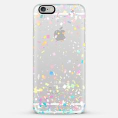 Pastel Confetti Explosion Transparent iPhone 6 Plus Case by Organic Saturation | Casetify. Get $10 off using code: 53ZPEA
