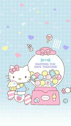 My hello kitty Hello Kitty Art, Hello Kitty Themes, Hello Kitty Pictures, Hello Kitty Birthday, Sanrio Hello Kitty, Sanrio Wallpaper, Hello Kitty Wallpaper, Kawaii Wallpaper, Sanrio Characters