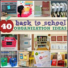 This is a great collection ideas for teachers and parents to prepare for the hustle and bustle of a new school year. :)