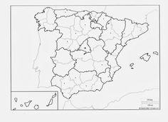 Mapa España Comunidades Autonomas Blanco Y Negro.Las 26 Mejores Imagenes De Geografia Geografia Mapas Y