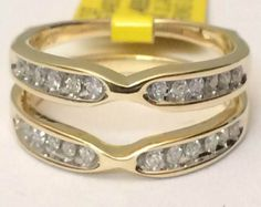 Yellow Gold Solitaire Enhancer Diamonds Ring Guard (0.25ct. tw)- RG331074858757