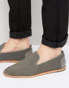 Buy Gray Hudson London Loafers for men at best price. Compare Shoes prices from online stores like Asos - Wossel Global Suede Loafers, Brogues, Loafers Men, Grey Loafers, Military Fashion, Mens Fashion, Fashion 101, Fashion Online, Hudson London
