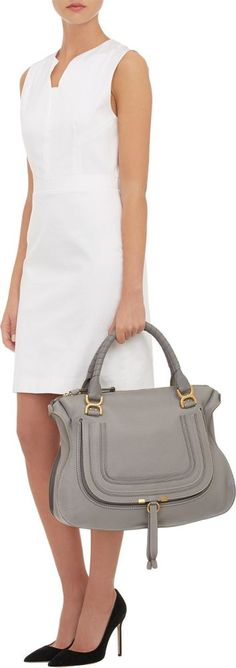 Chloé | The Marcie large textured-leather tote | NET-A ...