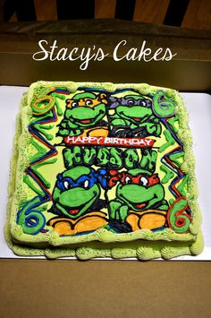 Stacys Cakes - Ninja Turtle Birthday Cake