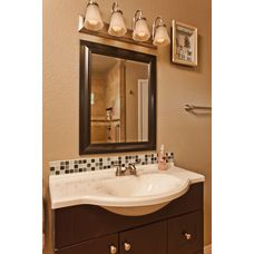 This Sink With Wooden Vanity Enhances Bathroom Adding Beauty And Functionality Let Clear